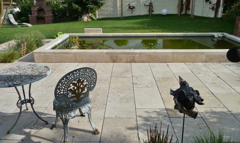terassenplatten gartenplatten bodenplatten aus naturstein travertin anitk marm fliesen. Black Bedroom Furniture Sets. Home Design Ideas